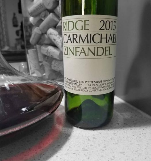 ridge zin 14.5% alcohol