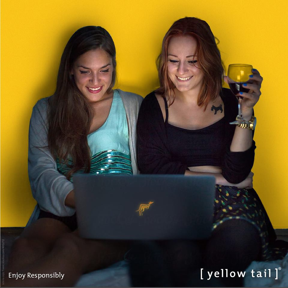 yellow tail 2 girls